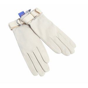 Michael Kors Leather Flannel Lined Gloves NWT